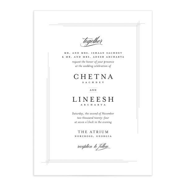 Elegant Accent Wedding Invitations