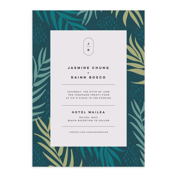 Modern Palm Wedding Invitations