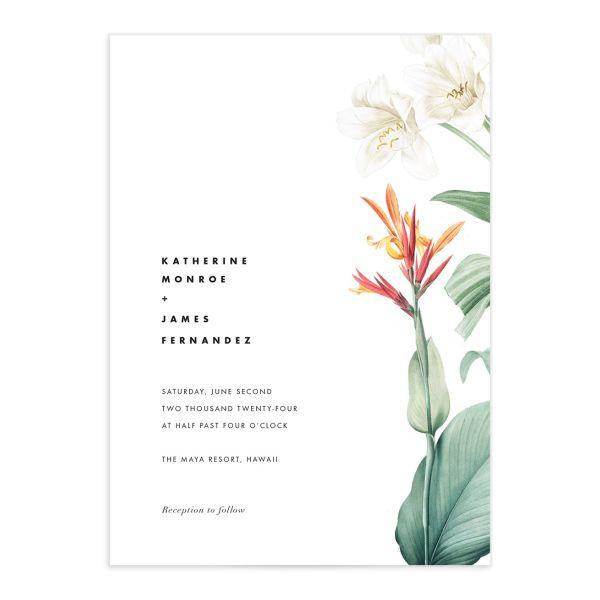 Tropical Botanic Wedding Invitations