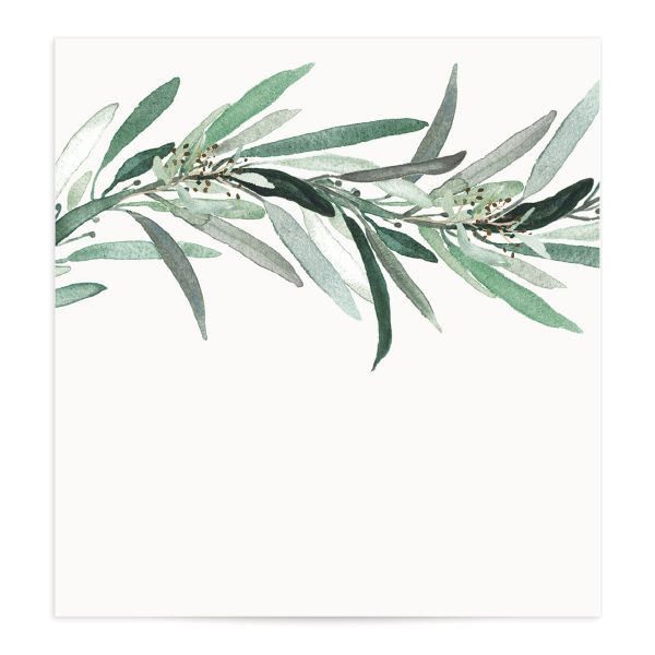 Lush Greenery Envelope Liners