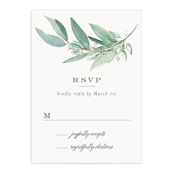 Lush Greenery Response Card front in green