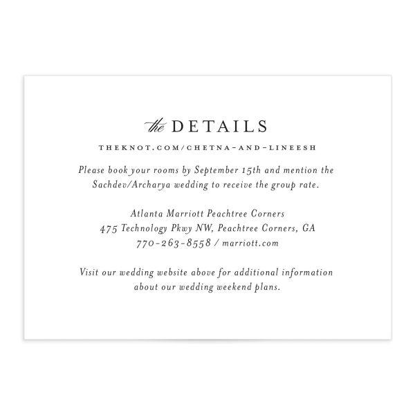 Elegant Accent Wedding Enclosure Cards