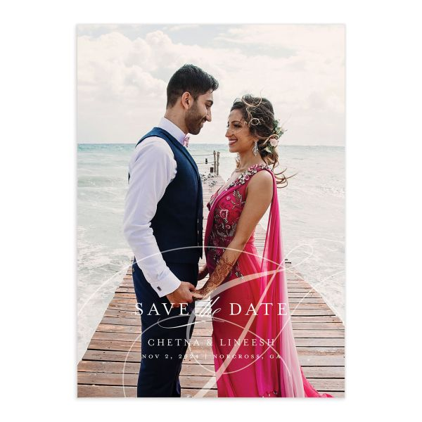 Elegant Accent Save The Date Cards