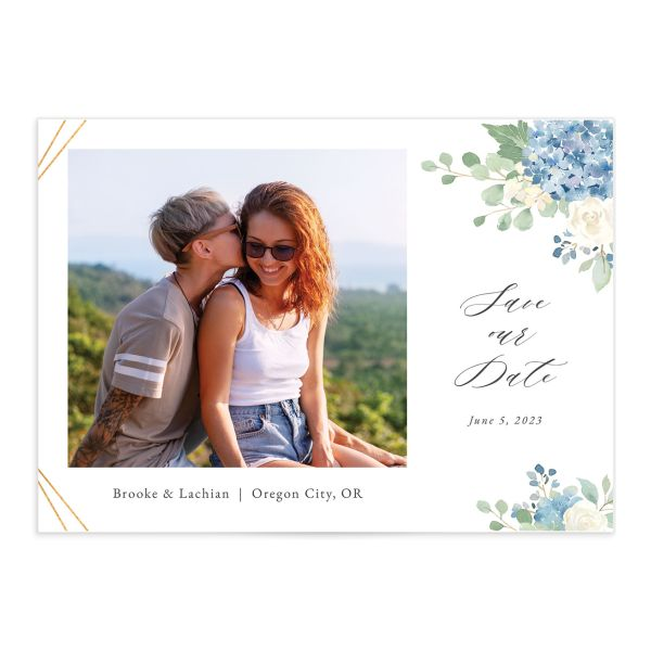 Elegant Hydrangea Save The Date Cards