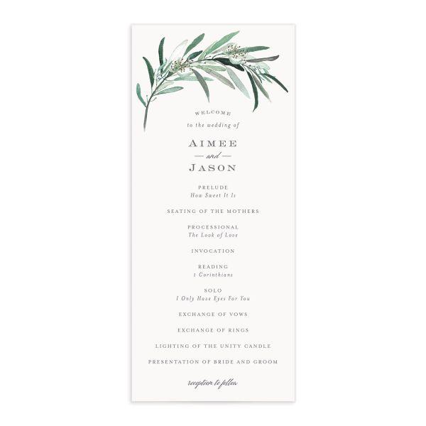 Lush Greenery Wedding Programs