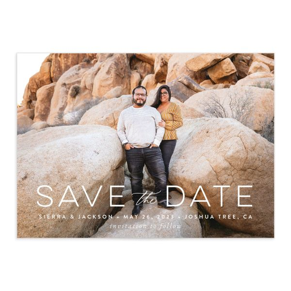 Painted Desert Save the Date Card front closeup