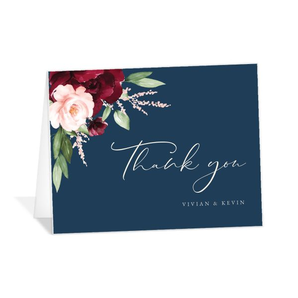 Beloved Floral Thank You Card front in multi