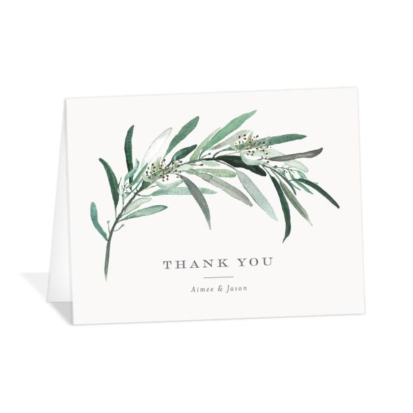 Lush Greenery Thank You Cards