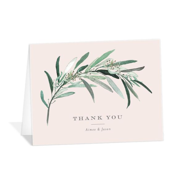 Lush Greenery Thank You Cards