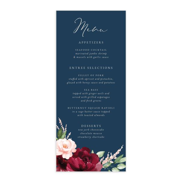 Beloved Floral Menu front in multi