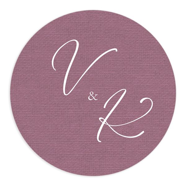 Beloved Floral Wedding Sticker in mauve