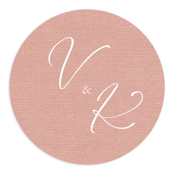 Beloved Floral Wedding Sticker in pink