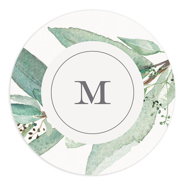 Lush Greenery Wedding Stickers