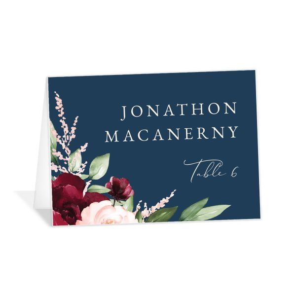 Beloved Floral Place Card front in multi