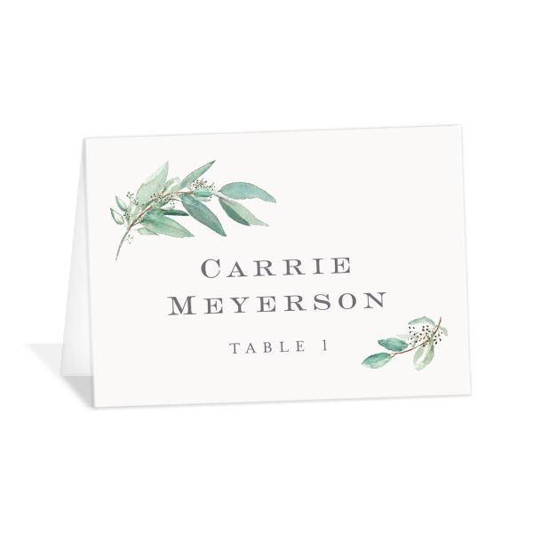 Lush Greenery Place Cards