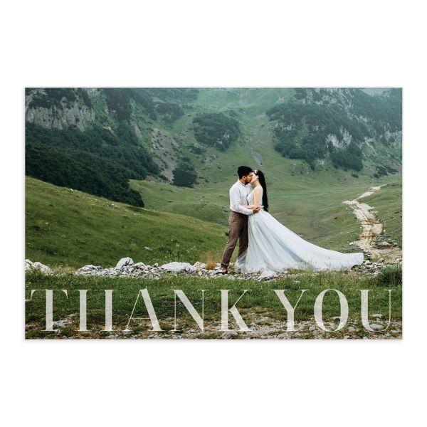 Minimal Chic Thank You Postcards