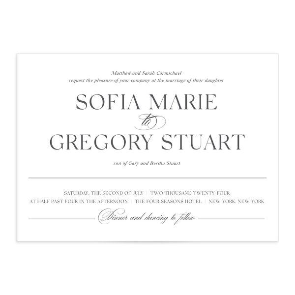 Classically Elegant Wedding Invitation