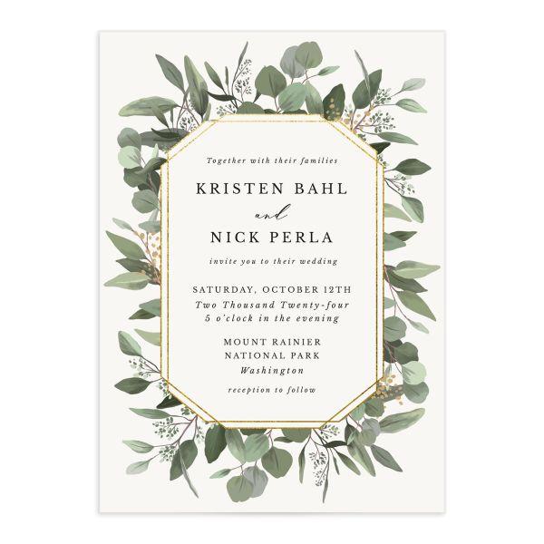 Eucalyptus Frame Wedding Invitations