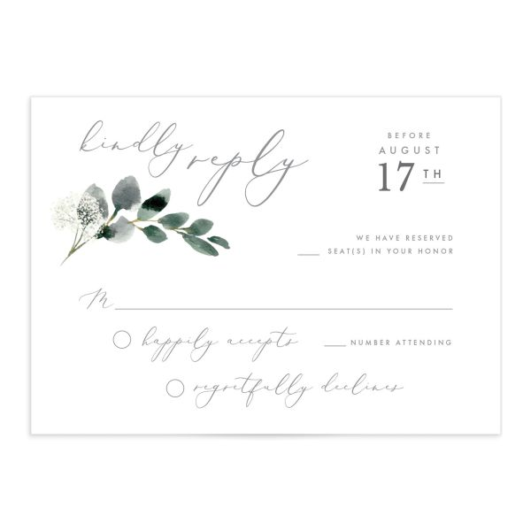 Elegant Greenery Wedding Response Cards