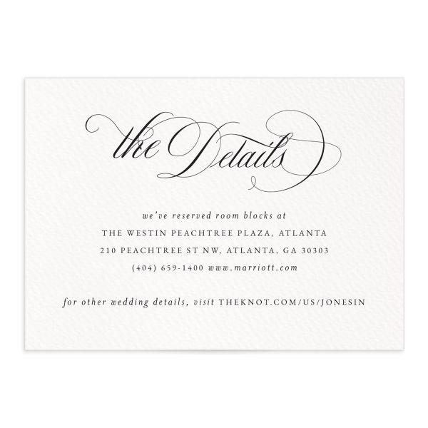 Exquisite Calligraphy Wedding Enclosure Cards