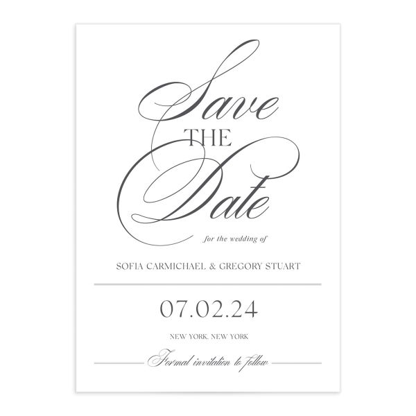 Classically Elegant Save The Date Cards