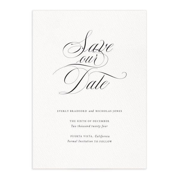 Exquisite Calligraphy Save The Date Cards
