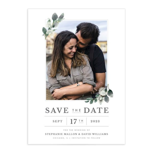 Greenery Branches Save the Date Cards