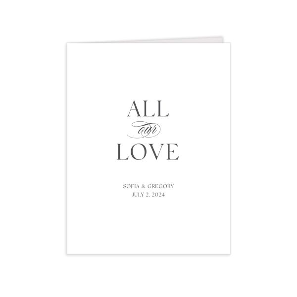 Classically Elegant folded Thank You Card in white