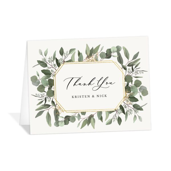 Eucalyptus Frame Thank You Cards