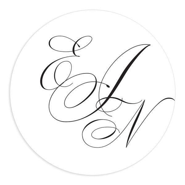 Exquisite Calligraphy Wedding Stickers