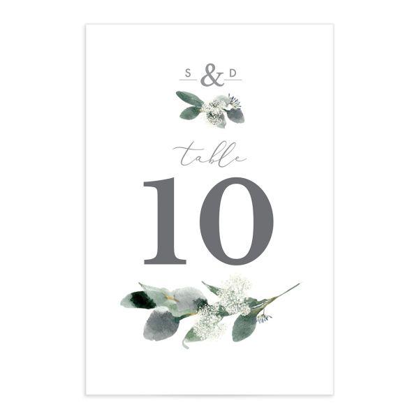Elegant Greenery Table Numbers