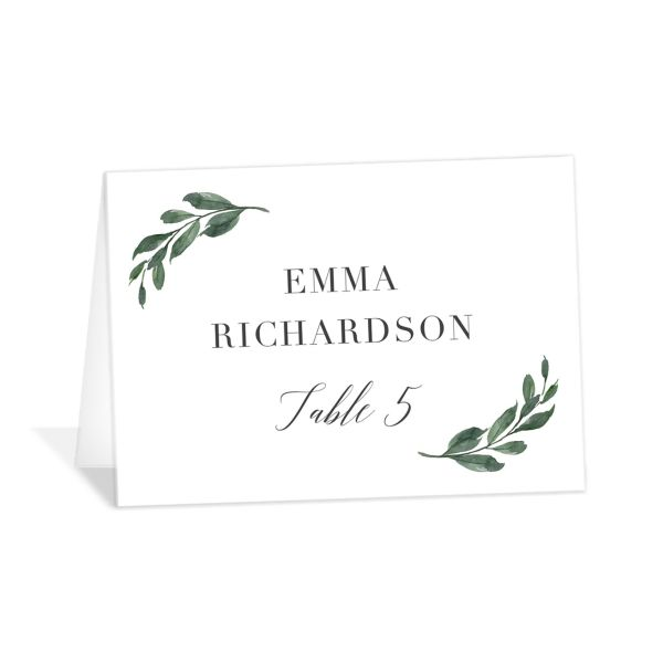 Floral Hoop Place Card front