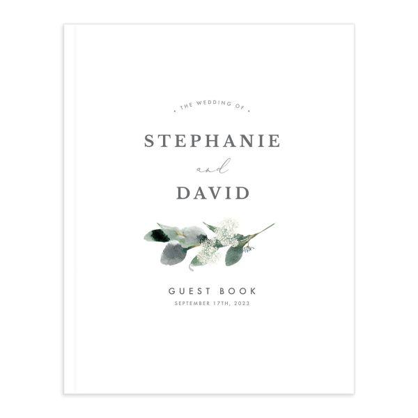 Elegant Greenery Guest Book