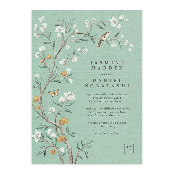 Decorative Garden Wedding Invitations