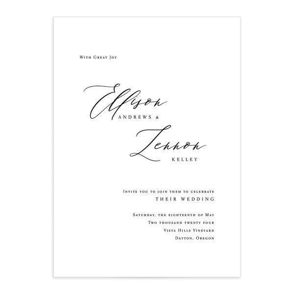 Minimal Calligraphy Wedding Invitations