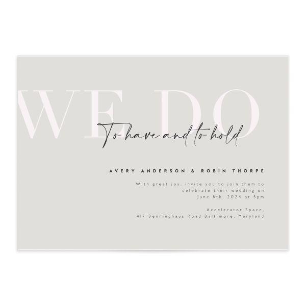 Modern Vow Wedding Invitations