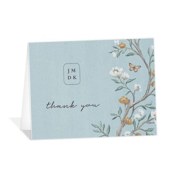 Decorative Garden Thank You Cards