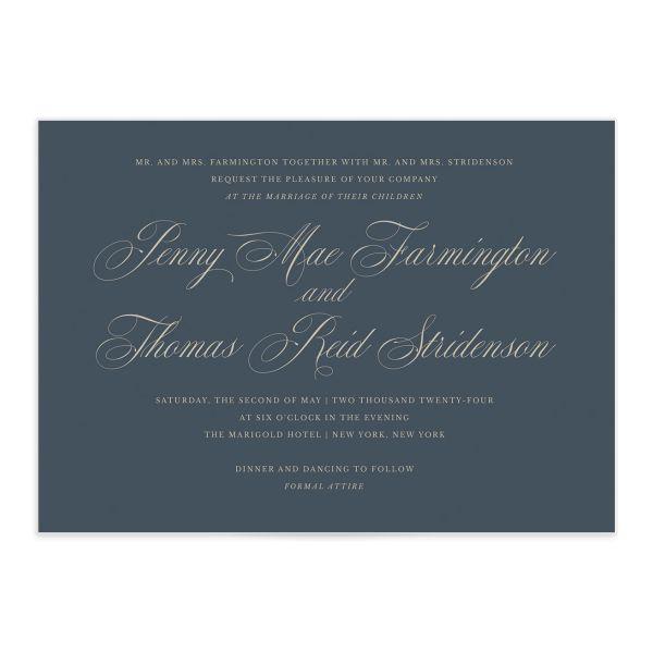 Classical Script Wedding Invitations