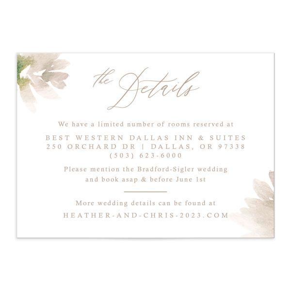 Dusted Calligraphy Wedding Enclosure Cards