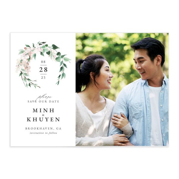 Romantic Wisteria Save The Date Cards