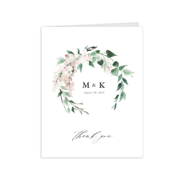 Romantic Wisteria Thank You Cards