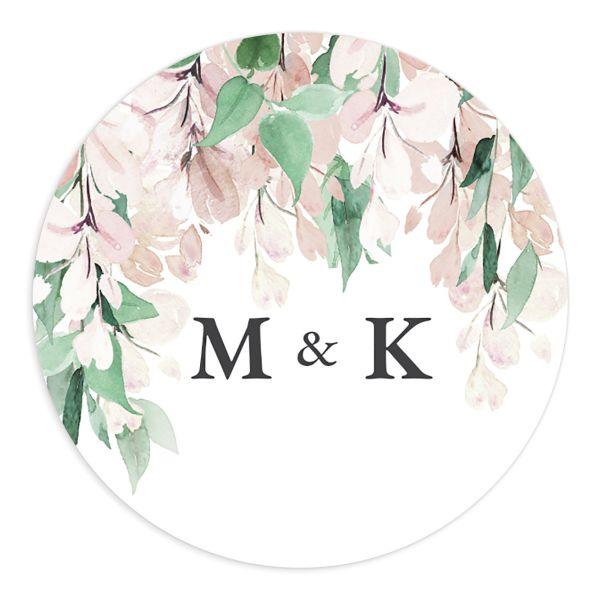 Romantic Wisteria Wedding Stickers
