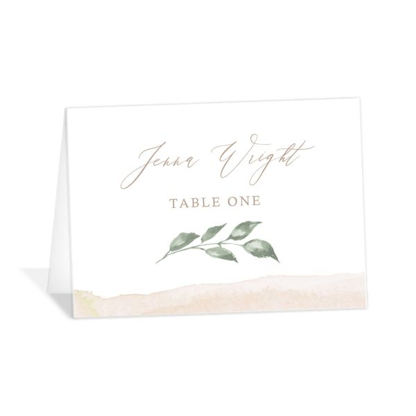 Dusted Calligraphy Place Cards