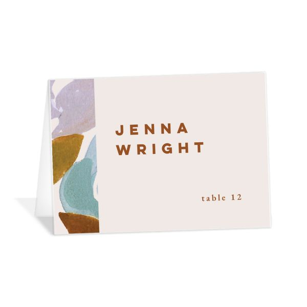 Modern Floral Place Cards