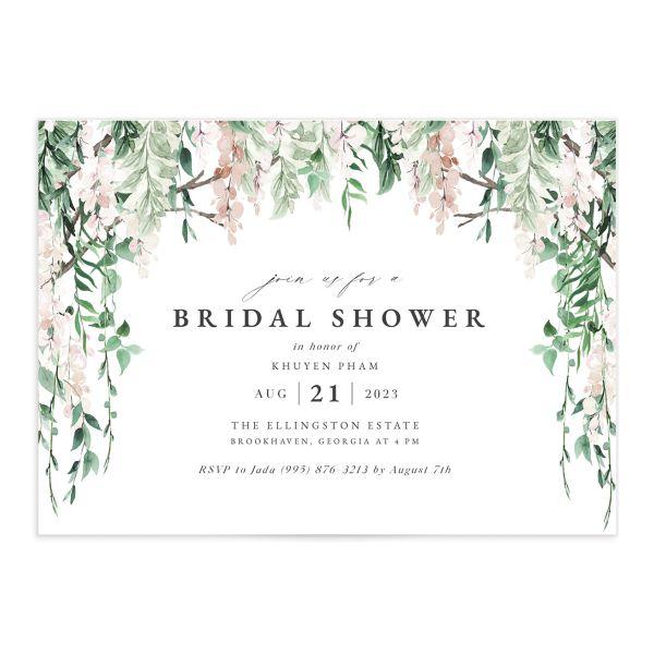 Romantic Wisteria Bridal Shower Invitations