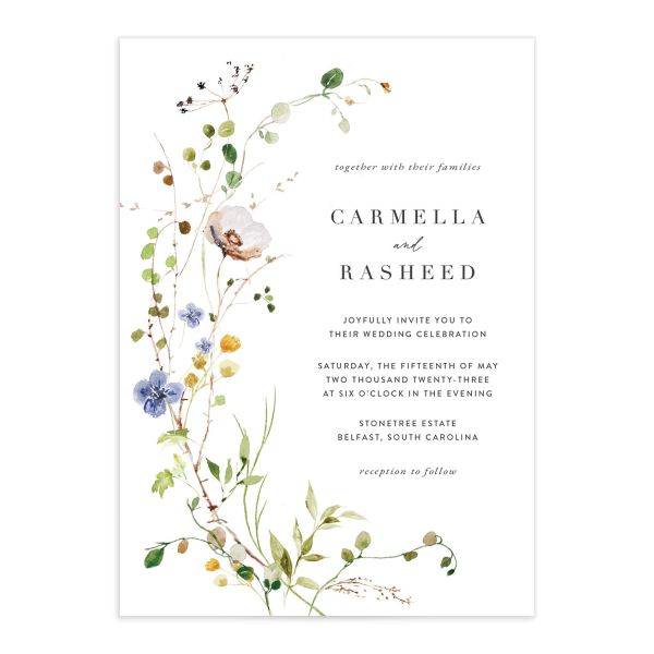 Delicate Wildflower Wedding Invitations
