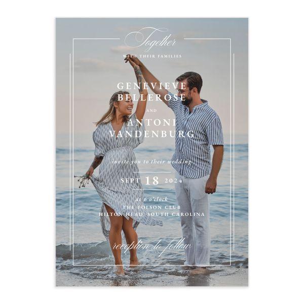 Elegant Photograph Wedding Invitations