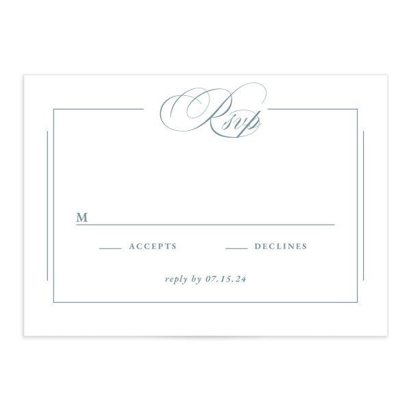 Elegant Photograph Wedding Response Cards