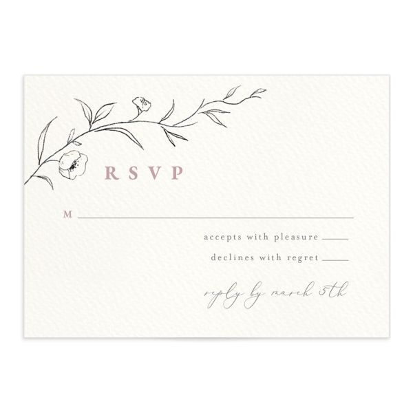 Graceful Botanical Wedding Response Cards