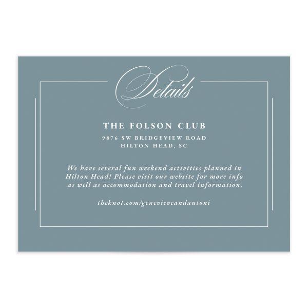 Elegant Photograph Wedding Enclosure Cards
